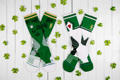 Festive Irish Basketball Socks - These St. Patrick's Day Socks Were Made for Athletes and Consumers