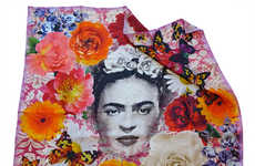 Artist Homage Scarves - This Frida Kahlo Scarf Captures the Painter's Vibrant Aesthetic