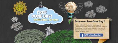 Unlimited Ice Cream Giveaways - This Chain is Giving Away Free Scoops of Its Most Popular Flavors