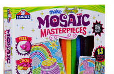 Mosaic Artwork Toy Sets - Elmer's Sparkle Mosaic Masterpieces Allows Kits to Create without Liquids