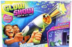 Sticker-Shooting Toys - The Glow Show Sticker Launcher Lets Kids Get Creative with Bedroom Stickers