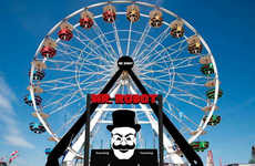 Television-Inspired Carnival Stunts - The Mr Robot SXSW Pop-Up Featured a 100-Foot Ferris Wheel
