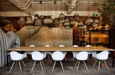 Textured Cafe Interiors - This Beijing Cafe Design Aims to Replicate the Experience of Mountains