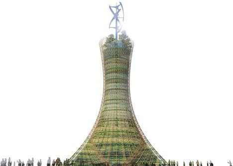 Hyperboloid Vertical Farms