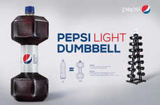 Gym-Inspired Bottle Designs - The Pepsi Light Dumbbell Perpetuates the Idea of a Healthy Lifestyle