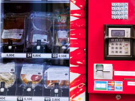 Gourmet Parisian Vending Machines - This High-End Vending Machine is Stocked with Fancy Meats