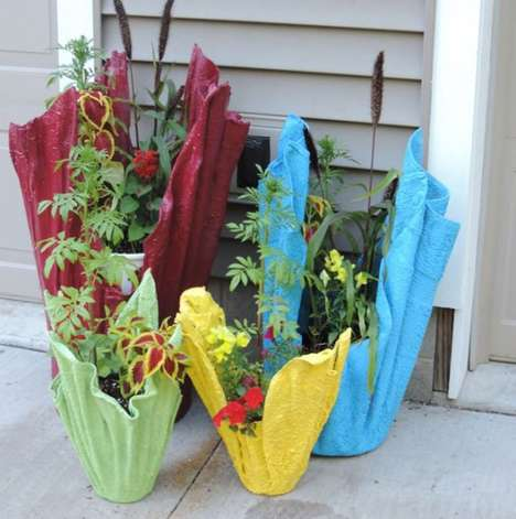 Recycled Towel Plant Pots