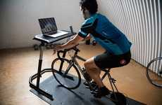 Stationary Cyclist Desks - The Wahoo Fitness Bike Desk Ensures Cardio is Part of One's Routine