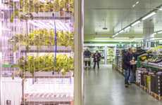 Self-Sustaining Grocery Hydroponics - The World's First In-Store Farm Has Opened in Berlin