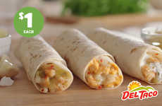 Snack-Sized Chicken Wraps - The New Chicken Rollers from Del Taco Come in a Convenient Snack Size