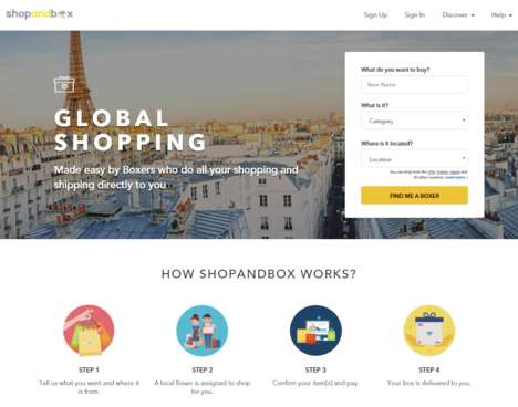 P2P Shopping Services - ShopandBox's Global Shopping Service Helps Users Aquire Items from Anywhere