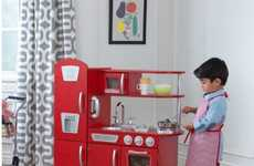 Gender-Inclusive Kitchen Sets - KidKraft's Retro Kitchen Toy Targets Aspiring Young Chefs