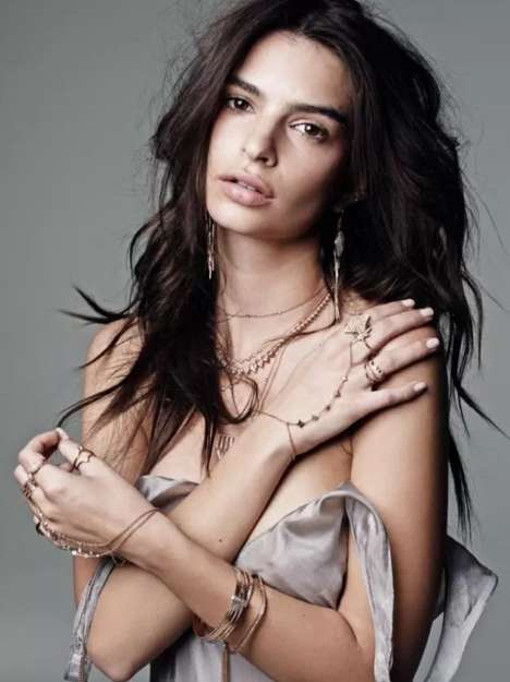 Topless Jewelry Lookbooks - The Jacquie Aiche Spring Collection Shows Off Designs Seductively