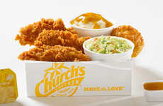 Honey-Flavored Chicken Strips - The Honey-Butter Biscuit Tenders Put a Sweet Twist on Fried Chicken