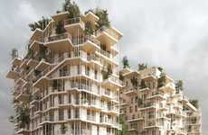 Towering Timber Buildings - The Canopia Timber Towers Are Proposed For Bordeaux