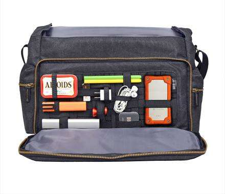 Gear-Segmenting Messenger Bags
