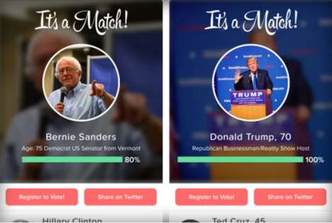 Dating App Election Features - This App Has a Feature That Helps Users Figure Out Who to Vote For