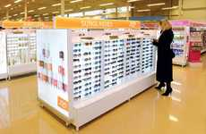 Sterile Sunglasses Displays - This Joe Fresh Store Display Promotes the Company's Clean Branding