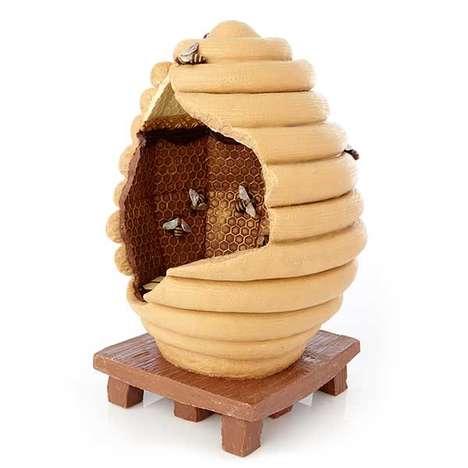 Beehive-Inspired Easter Eggs