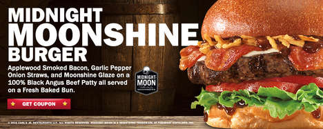 Moonshine-Infused Burgers - The New Midnight Moonshine Burger is a Boozy Fast Food Treat