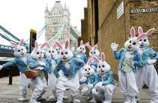 Easter Bunny Brand Activations - This Haribo Activation Toured the City of London Offering Treats