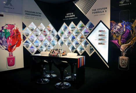 Dynamic Nail Polish Displays
