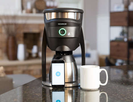 Connected Custom Coffee Makers - The Behmor Coffee Maker is Managed via the Smartphone App