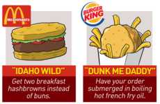 Silly Secret Menus - The Cartoon Carte du Jour Highlights Some Surprisingly Strange Take-Out Meals