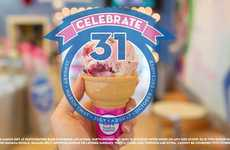 Discount Ice Cream Promotions - The 'Celebrate 31' Promotion Includes Ongoing Ice Cream Discounts