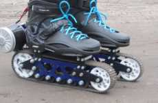 Rubber-Track Rollerblades