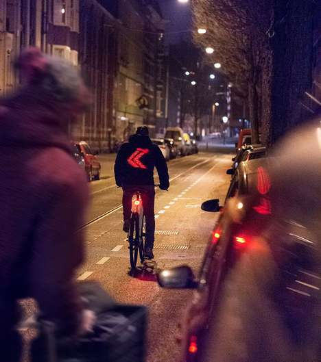 Smart Cycling Jackets - This Vodafone Holland Jacket Creates a Safer World for Cyclists