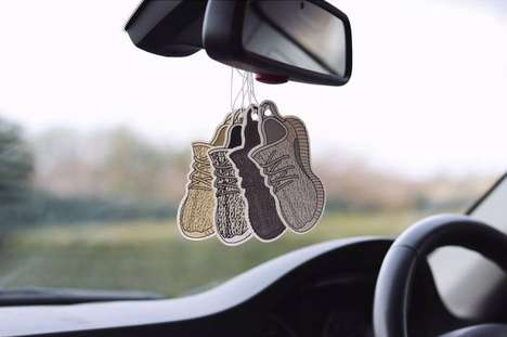 Sneaker-Themed Air Fresheners - Freshen Your Ride with the Affordable Yeezy Air Fresheners