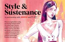 Glossy Fashion Week Cookbooks - Grocery Retailer Metro Presented 'Style and Sustenance' at TFW