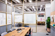 Collaborative Co-Op Offices - The CoLab Space Features an Open-Concept Layout for Community Working