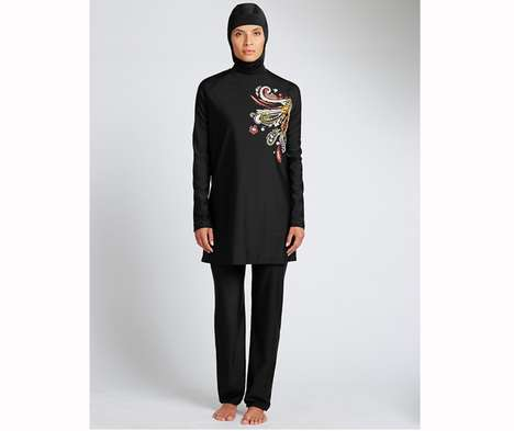 Religious Swim Apparel - Mark & Spencer's Burkinis Cater to Muslim Customers