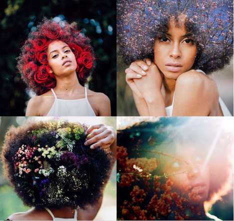 Floral Afro Artwork - Dazhane Leah is Redefining Afro Hair Perception with Beautiful Flowers