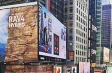 Rock Wall Billboards - Toyota's Times Square Ad Doubles as a Towering Climbing Wall