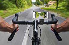 Cyclist Smartphone Selfie Docks - The iLuv Selfy Bar Mount Captures Riders and the Road Ahead