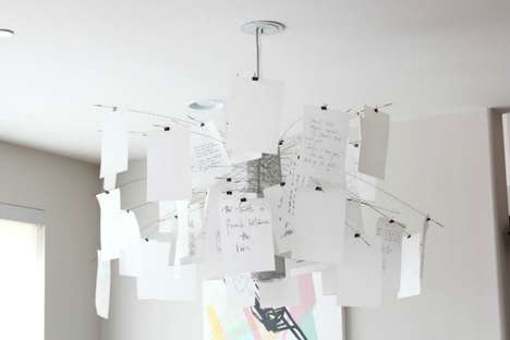 Custom Paper Chandeliers - The 'Zettel'z 5' Chandelier Come Packed with Customizable Features