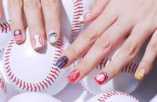 Ballpark-Themed Nail Stickers