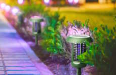 Eco Garden Bug Zappers - The Solar-Powered UV Bug Zapper Garden Lamp is Multifunctional