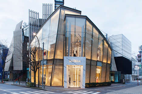 Artful Luxury Boutiques - This La Perla Tokyo Store Boasts Luxe Architectural Details