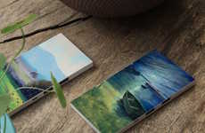 Artistic Smartphone Chargers - The Ultra-Thin Painted Portable Power Pack Features Classical Artwork