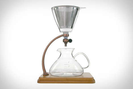 Adaptable Coffee Brewers - The Yama Silverton Coffee Dripper Can Make Hot or Cold Brew Coffee