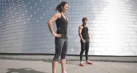 Tracking Fitness T-Shirts - The Hexoskin Biometric Tops Record Workout Stats for Better Performance