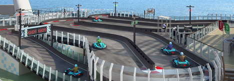 Racetrack-Topped Cruise Ships