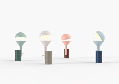 Orbiting Lunar Lamps - The Inti LED Light Rotates to Imitate the Moon Orbiting the Earth and Sun