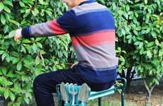 Dual-Purpose Gardening Chairs - The Songmics Garden Seat Makes Pruning and Weeding More Comfortable