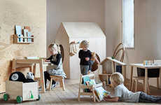 Wooden Children Furniture - The IKEA FLISAT Series is at Once Simple and Playful