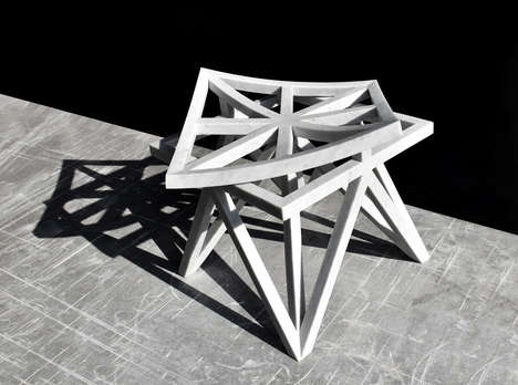 Geometric Lattice Furniture